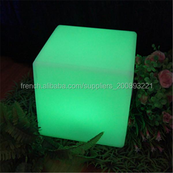 changeant de couleur table de salon de jardin table lumineuse led