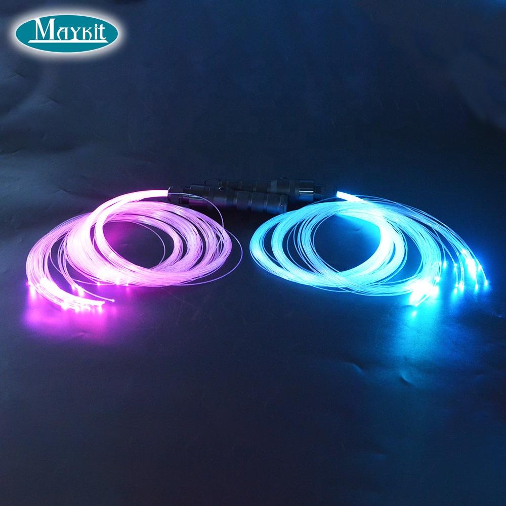 360 degree free rotation led fiber optic rave dance pixel whip kit