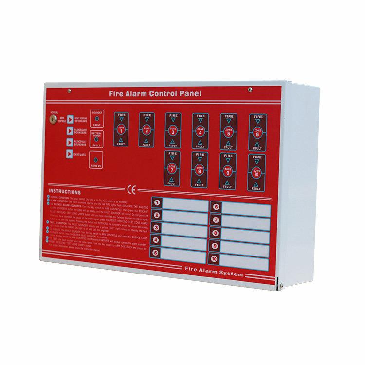 Горячая Распродажа, 10 зон, обычная пожарная сигнализация, панель управления с сертификатом CE