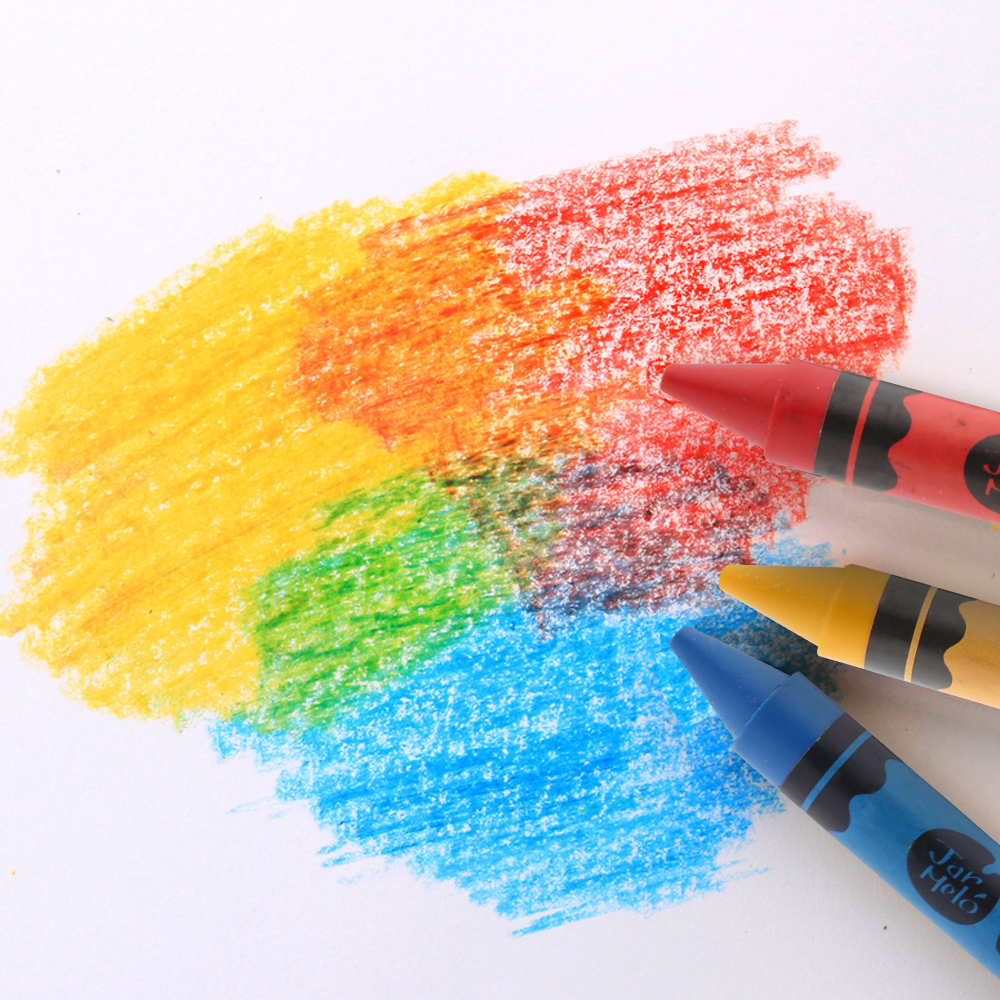 12 Colors Custom Art Decoration Painting Kids Non-toxic Silk Oil Pastel Pencils Beeswax Wax Washable Crayon Set for Children