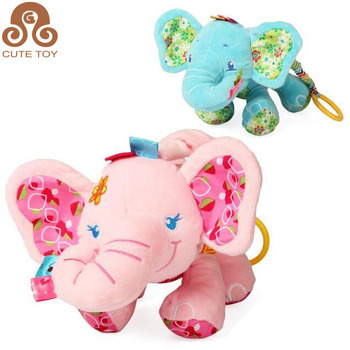Customized Safe soft Cute Plush Lullaby Musical cartoon animal toy for baby