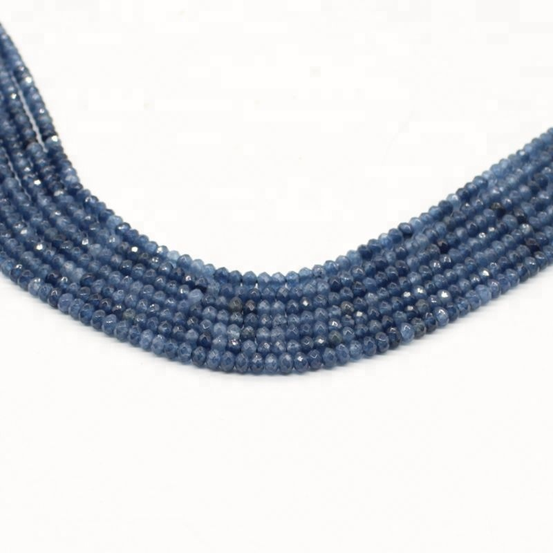 2*3mm Blue Sapphire Strand Bead Manufacture & Supply Wholesale