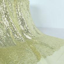 """3 мм блестки ткань блестящая вышивка золото серебро блестящие свадебные украшения платье 50 """"в ширину(Китай)"""