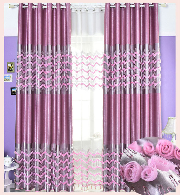 curtain blackout embroidered floral height 280cm curtains for living room bedroom rideaux pour. Black Bedroom Furniture Sets. Home Design Ideas