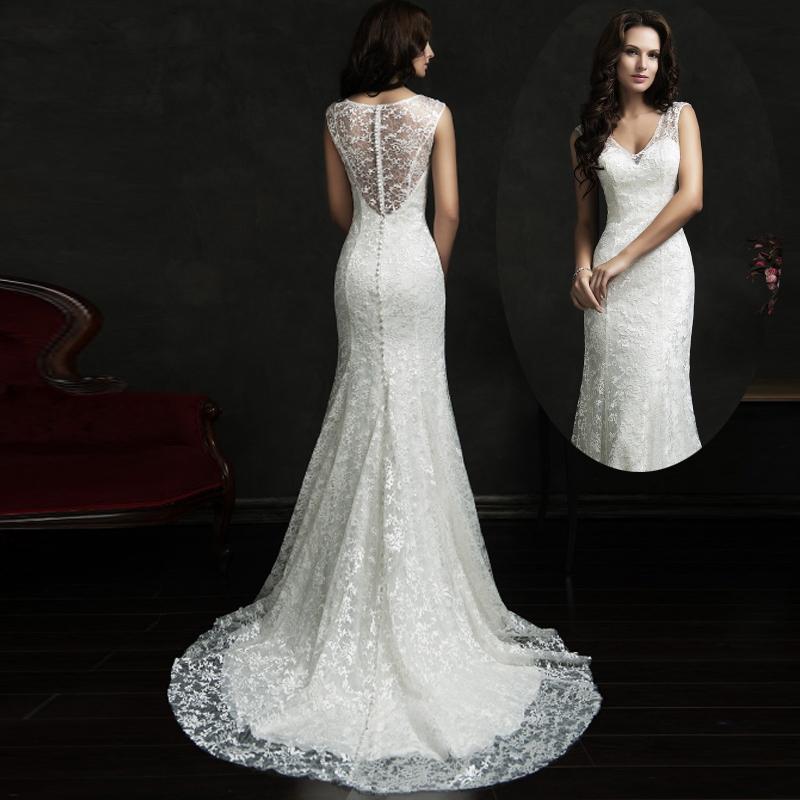 Custom Made Spanish Lace Wedding Dresses Western Country ...