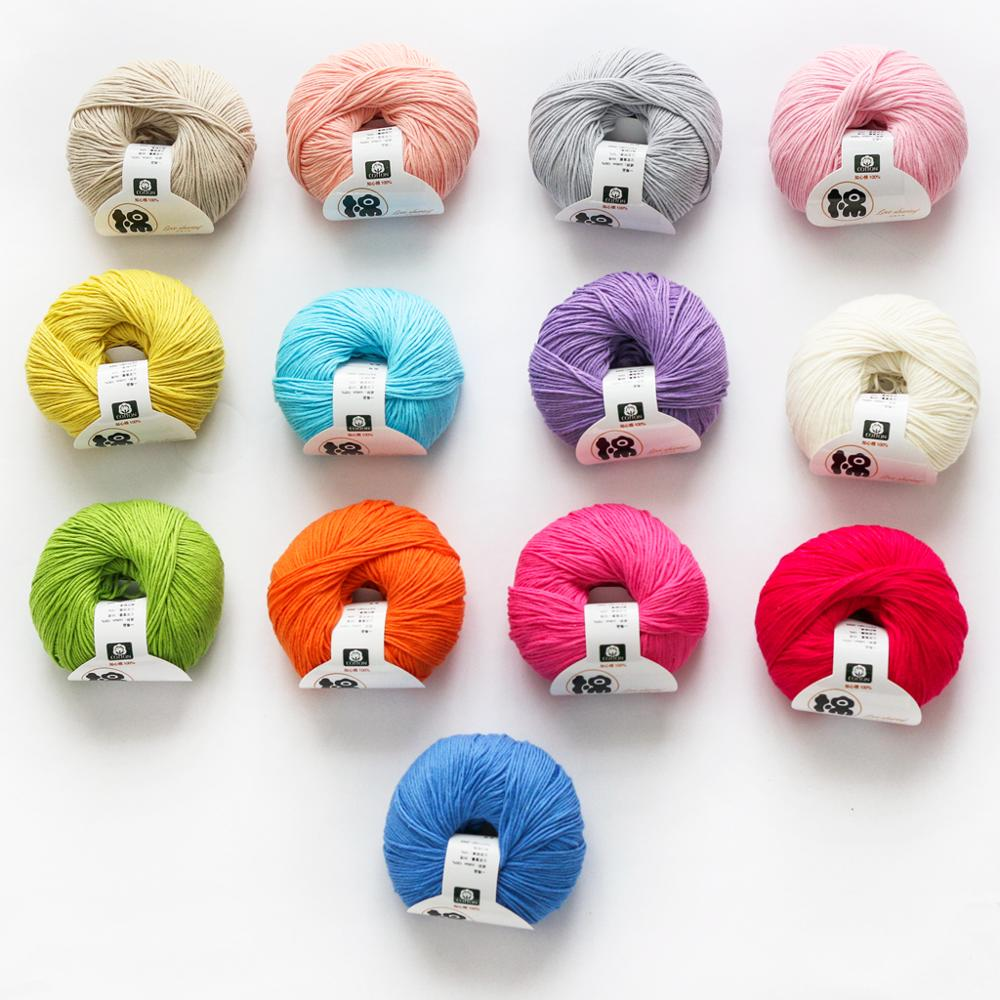 2019 china factory price 100% cotton baby knitting yarn for hand knitting