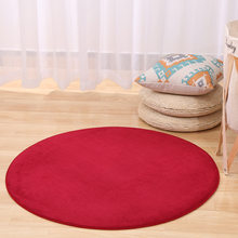 Новый модный однотонный коврик для стула с эффектом памяти, детский коврик для спальни, коврики для йоги, большой круглый ковер для гостиной(Китай)