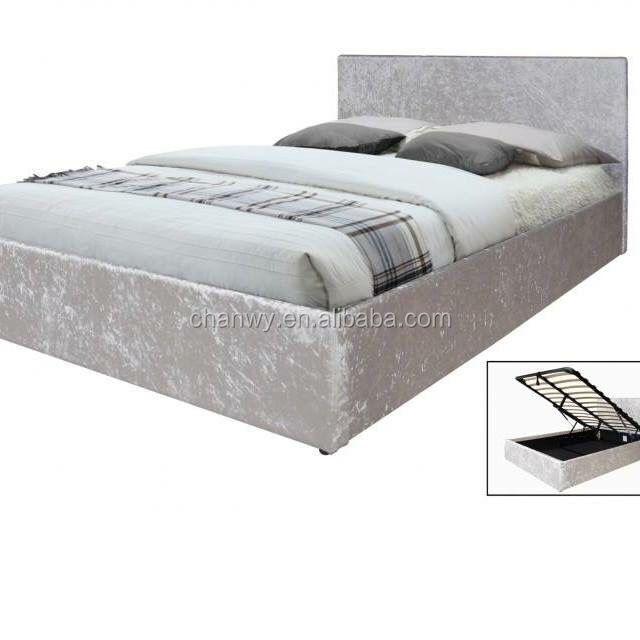 best selling crush velvet hydraulic ottoman lift storage prado bed