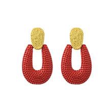 5 стилей, милые цветные серьги, эффектные геометрические длинные висячие серьги для женщин, популярные модные вечерние серьги, ювелирные из...(Китай)