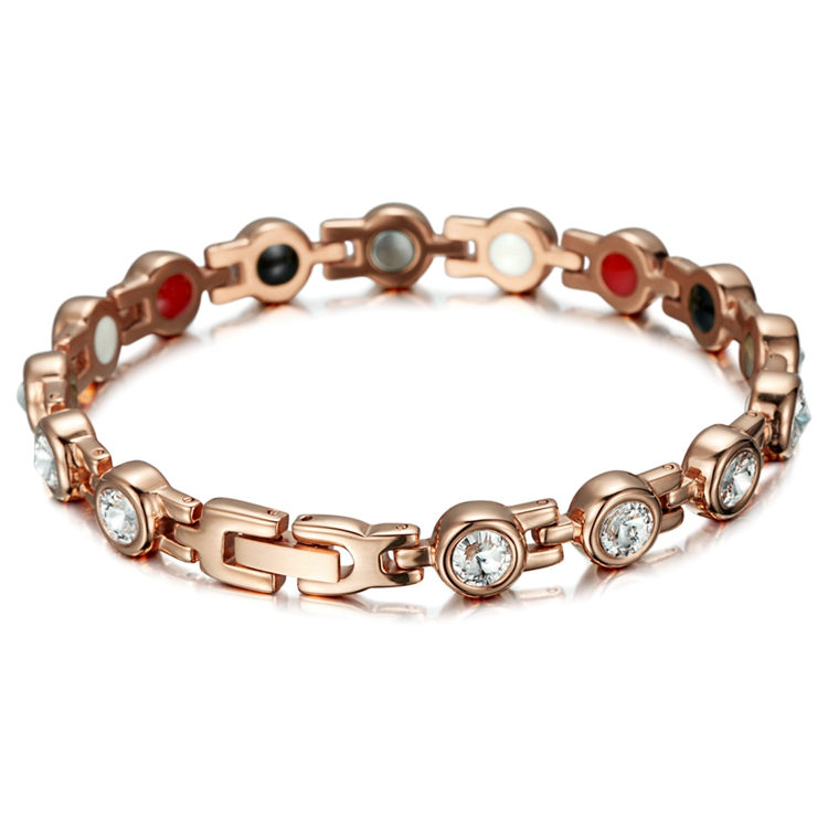 RunBalance 1 Day Delivery Wholesale high quality rose gold tone fashion 4 in 1 stainless steel jewelry bracelet women