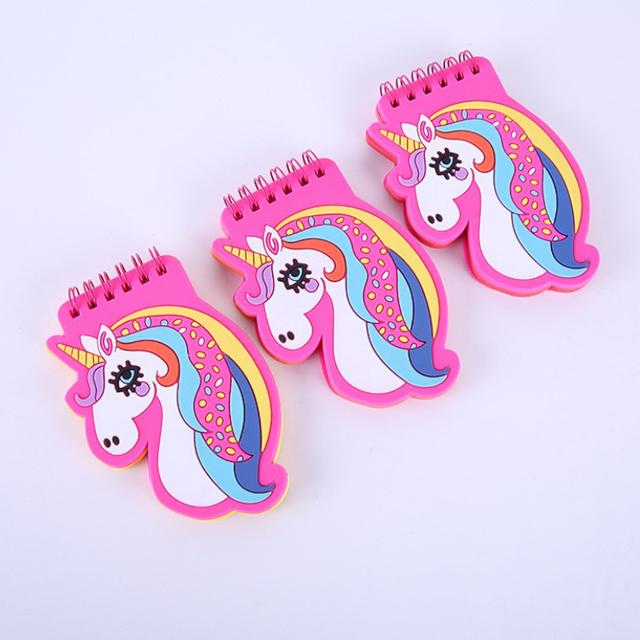 Милый мультяшный Единорог Фламинго детский блокнот мини карманный блокнот для записей с крышкой из ПВХ