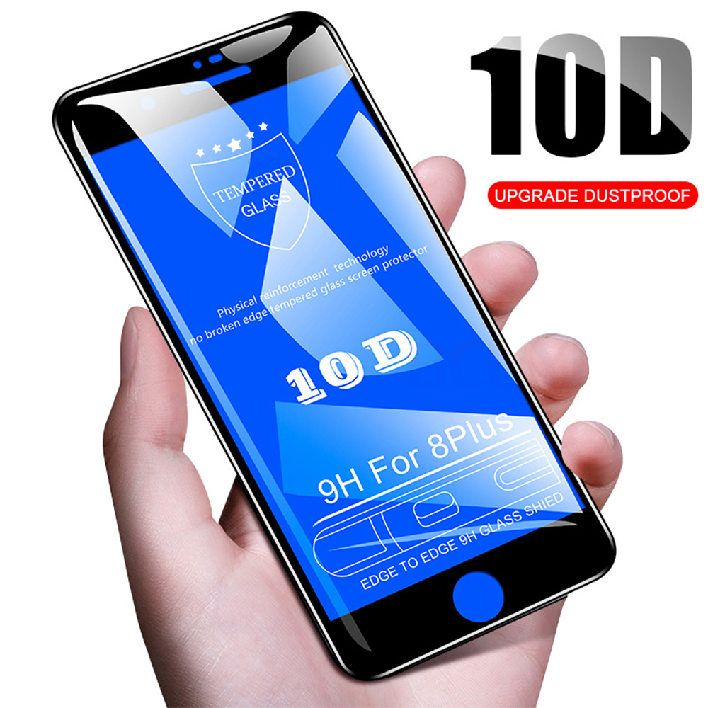 10D Protective Glass for iPhone 7 Screen Protector iPhone 8 Xr Xs Xs Max Tempered Glass for iPhone X 6 6s 7 8 Plus Xs Glass