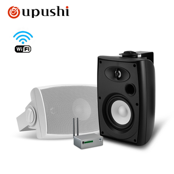 Oupushi wireless intelligent WIFI wall speaker 10-60W bluetooth wall-mounted speaker 8 ohm sound system white/black color