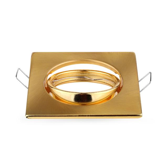 2015 hot free shipping golden color led spot light gu10 mr16 e27 fitting kits square recessed. Black Bedroom Furniture Sets. Home Design Ideas