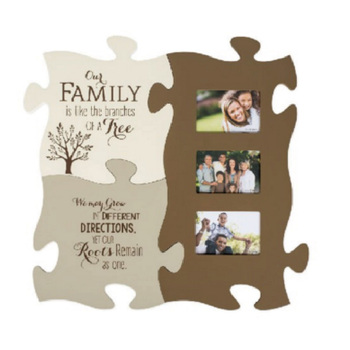 Family Like The Branches On A Tree 20 x 20 Puzzle Piece Photo picture Frame