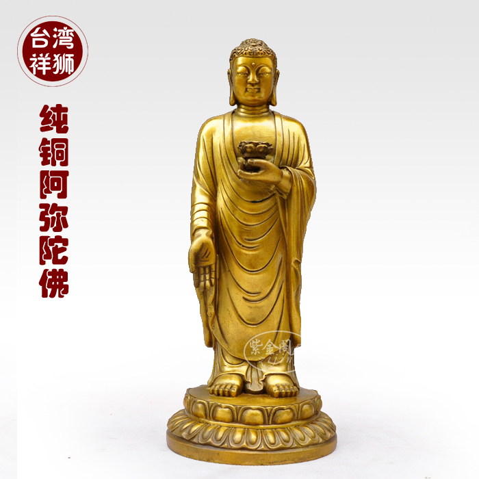Taiwan pure copper Buddha statues Cheung lion ornaments town house living room western home decoration products escorts Buddha