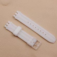 Аксессуары для часов Силиконовый ремешок для мужчин и женщин 18 мм для Swatch SUIB400 SUIK400(China)