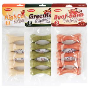 Молочный, мясистый, со вкусом зеленого чая Съедобное питание жевательная палочка для собак