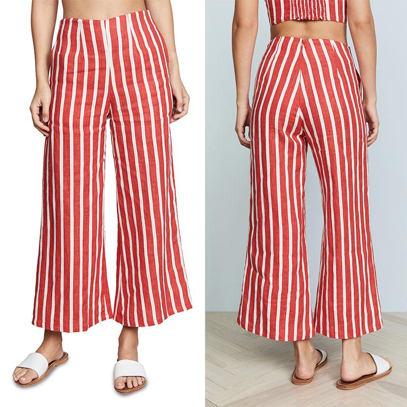 2018 Moda Ropa De Mujer 100 Lino Rayas Ancho Pantalon Buy Pantalones De Pierna Ancha 100 Lino Pantalones 2018 Moda Ropa De Mujer Product On Alibaba Com