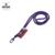 colorful round cord lanyard with custom woven logo label