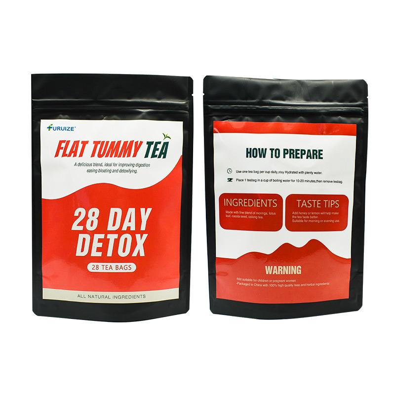 Индивидуальная марка, детоксикационный чай, специальный дизайн, быстрая детоксикация, 28 дней, плоский чай для живота, чай для похудения и детоксикации