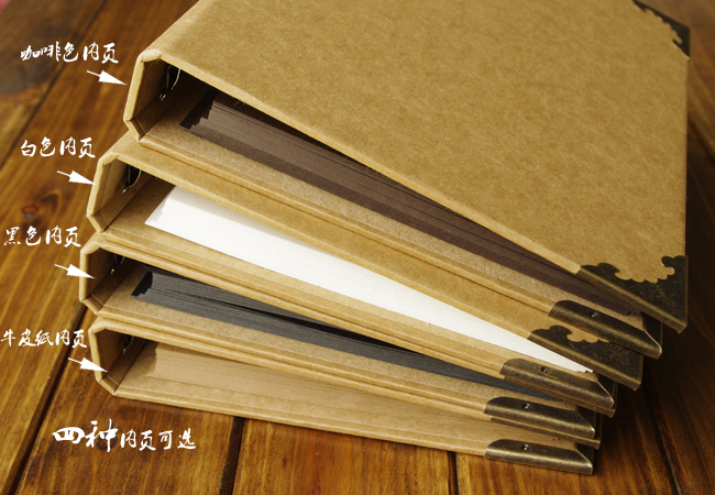 buy blank cover loose leaf craft paper album graffiti diary photoalbum handmade. Black Bedroom Furniture Sets. Home Design Ideas