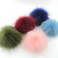 2pcs real raccoon fur pom poms ball key chain fur hat winter hats for shoes fur