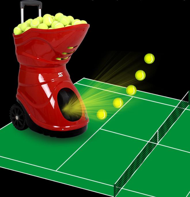 Популярная хорошая машина для тенниса, машина для теннисных мячей, машина для стрельбы по теннису для игр и тренировок