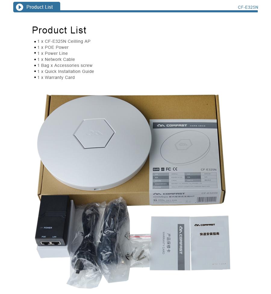 天井apcf-e325n300mbpscomfast、 元の工場oemやodmをサポートし無線lanリピータ屋内での使用、 ワイヤレスリピータブリッジ仕入れ・メーカー・工場