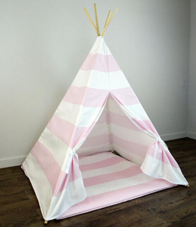 Оптовая продажа вигвама палатка для детей играть на открытом воздухе Типи игровые палатки розового цвета