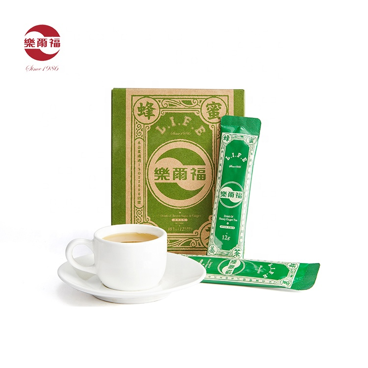 hot sale Chinese factory ginger drink instant honey ginger tea powder bag honey flavour tea powder