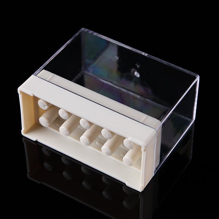 10 Holes Nail Drill Bit Show Shelf Case