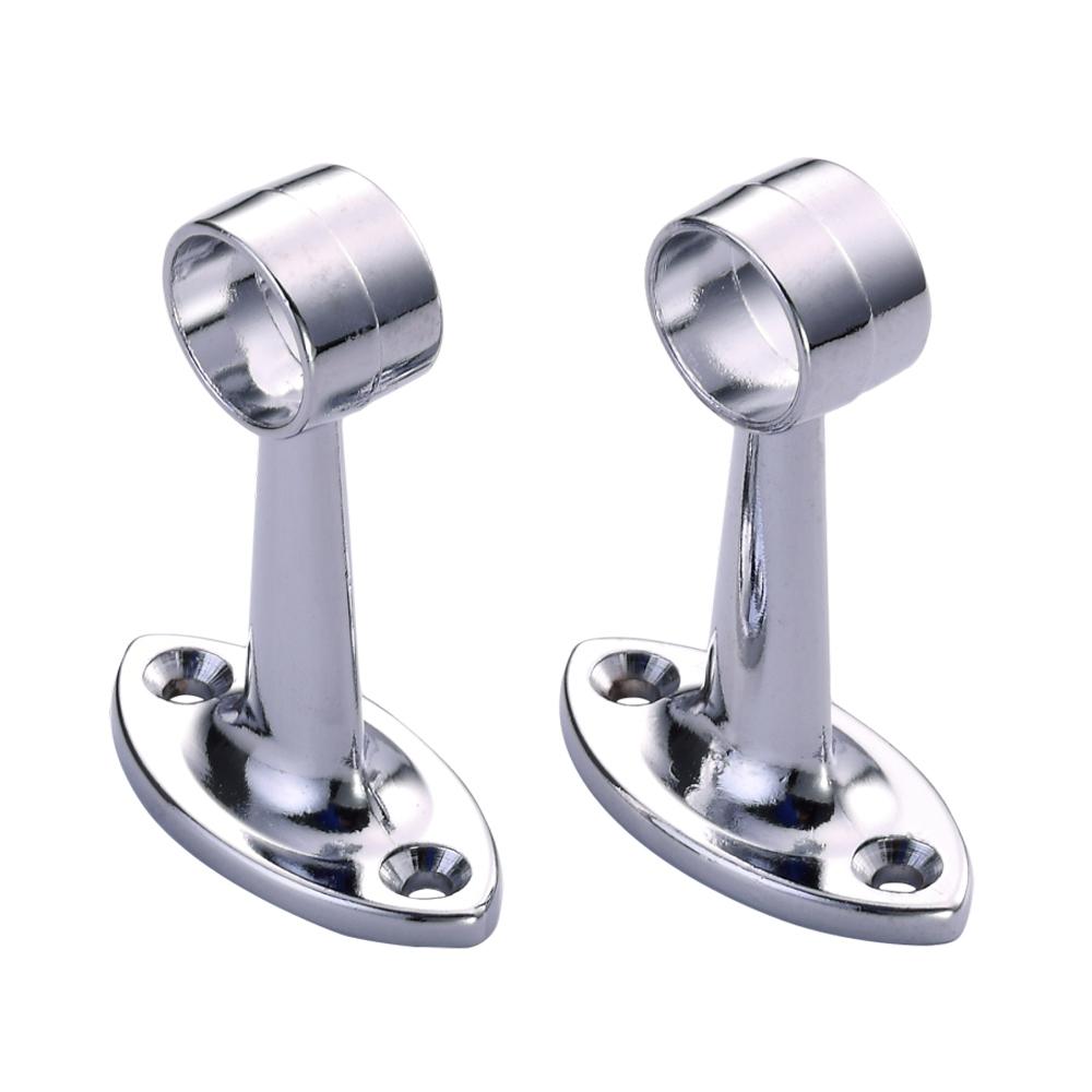 Heavy Duty Chrome Closet Rod Bracket Buy Durable Shower Rod Support Towel Rail Flange Brackets Amazon Wardrobe Rail Holder Product On Alibaba Com