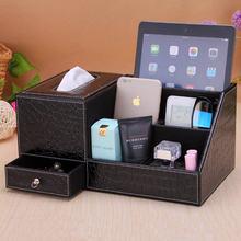 OUSSIRRO Европейская стильная тканевая коробка многофункциональный держатель для салфеток из искусственной кожи для хранения пульта дистанци...(Китай)