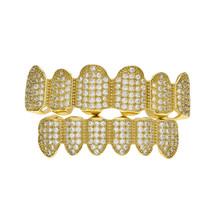 BOAKO хип-хоп золотые зубные грили для мужчин Grillz Bling Zircon Tooth Cap Rapper Teeth grillz Caps Punk Tooth Party Jewelry K5(Китай)