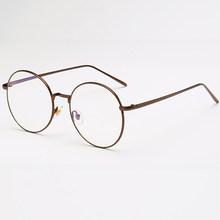 QIFENG анти-синий светильник, очки для женщин и мужчин, очки для компьютера, оптические круглые винтажные очки для игр, прозрачные линзы QF048(Китай)