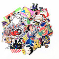 10 Pcs Mixed Emoji Stickers For Children Anime Funny Cartoon Stickers Home Decor Wall Car Skateboard