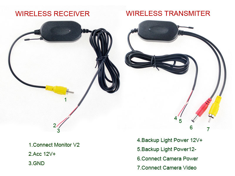 wireless car rear view backup camera night vision with digital lcd monitor auto dvd accessories ... wireless camera wiring diagram wireless cctv camera wiring diagram