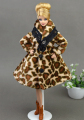 Doll Clothes Fashion Coat Winter Wear Clothing Leopard Outfit Clothes Dress For Barbie Doll Best Gift