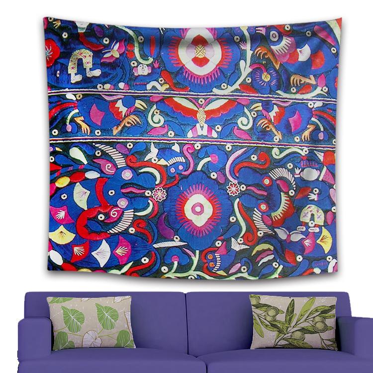 Домашний декоративный гобелен из полиэстера с цифровой печатью Мандала