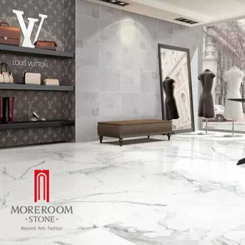 Foshan Porcelain Tiles That Looks Like Carrara and Calcatta White Marble for Luxury Decoration