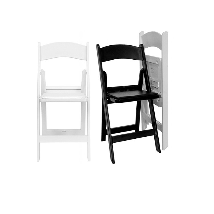 Wholesale Wedding Decoration Use Resin White Folding Chairs For Sale