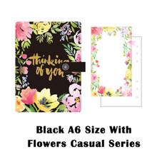 Lovedoki Dokibook, дорожный блокнот, планер повесток дня, черный цветочный бизнес-дневник, канцелярские принадлежности, бесплатная доставка, 2020(Китай)