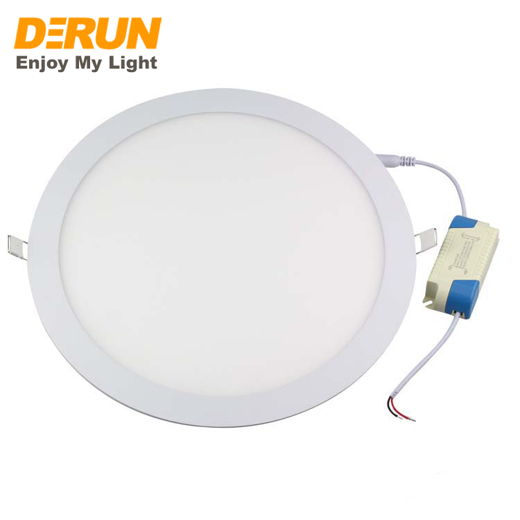 LED PANEL LIGHT 300mm RECESSED ROUND 100V 265V  6W 12W 18W 24W Easy Installation apply for Hallways , LPL-RECESSED