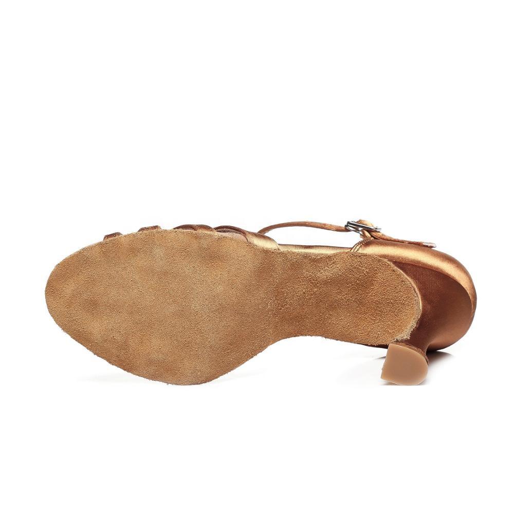 Туфли женские шелковые атласные для сальсы, каблук 6 см/9 см, L351