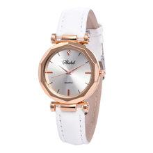 Роскошные модные женские часы браслет повседневные часы женские кожаные Аналоговые кварцевые наручные часы с кристаллами(Китай)