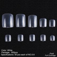 Накладные ногти, 500 шт., прозрачные накладные ногти Natura Color, Французский акриловый накладные ногти, полный или полупокрытие, декоративный ман...(Китай)