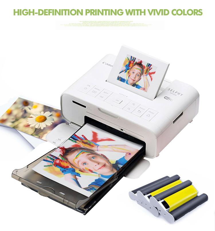 PUTY полноцветный фотобумага PT-108IN для canon selphy cp1200 принтер бескраскового полноцветный фотобумага