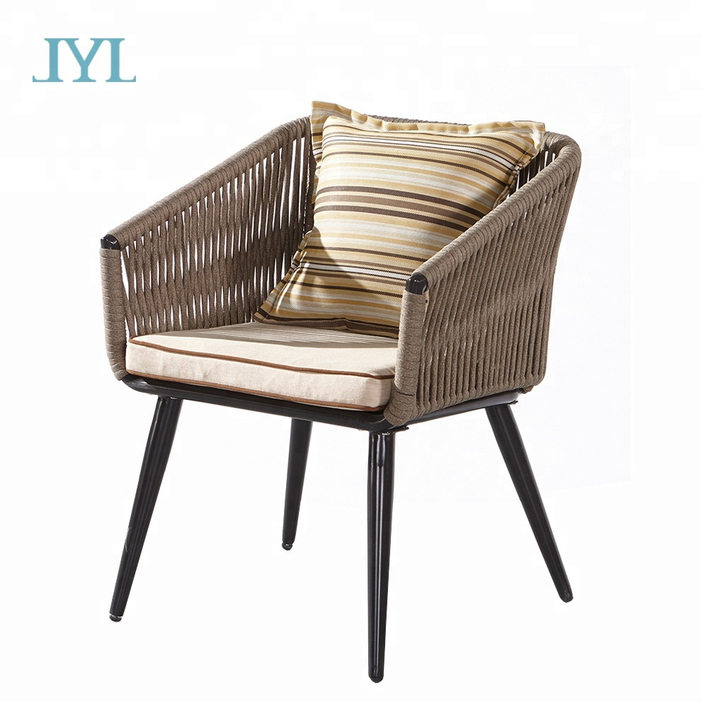 Newest fiber wicker rattan chair for cafe shop balcony restaurant projects
