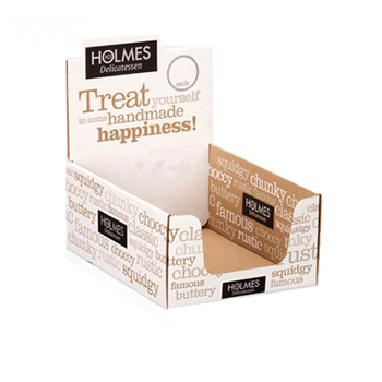 Custom Made Advertising POP Cardboard Shipping Display Box for Snacks